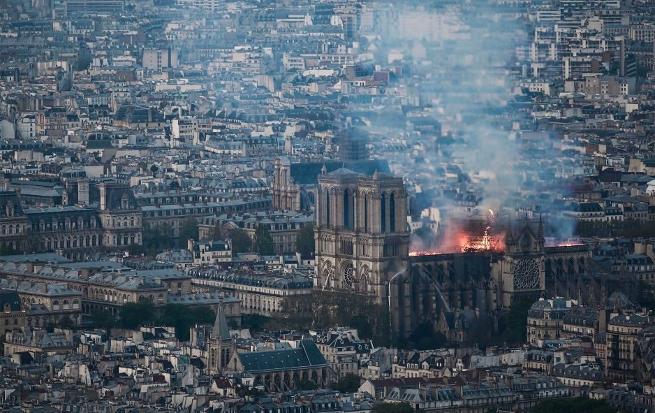 Fire At Notre Dame Cathedral Contained, Spire Collapsed But Stone Structure Appears Stable