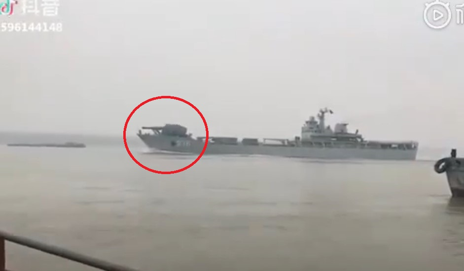 In Videos: Chinese Type 072III-class landing ship Armed With Electromagnetic Railgun