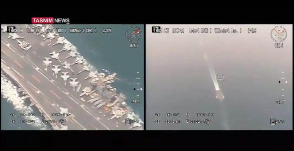 Iranian Media Claims Iranian Drone Made Close Surveillance Flight Over US Aircraft Carrier. 'Evidence' - Animated Video