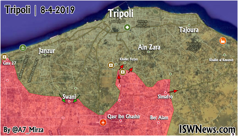 Map Update: Libyan National Army Advancing In Vicinity Of Tripoli