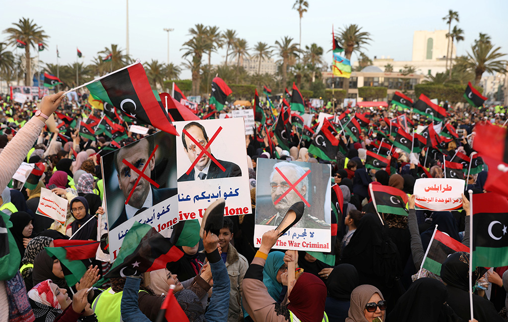 GNA Stages Protest Against Libyan National Army In Tripoli As Clashes South Of City Continue