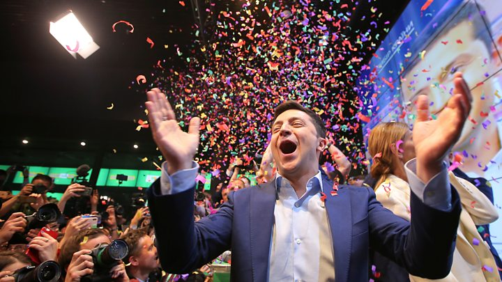 Comedian Volodymyr Zelenskiy Wins Landslide Victory in Ukrainian Presidential Elections