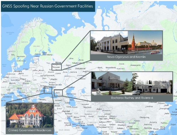 Wherever Putin Goes, GPS Stops Working. Report Tracking Russian GPS Spoofing Activity Reveals