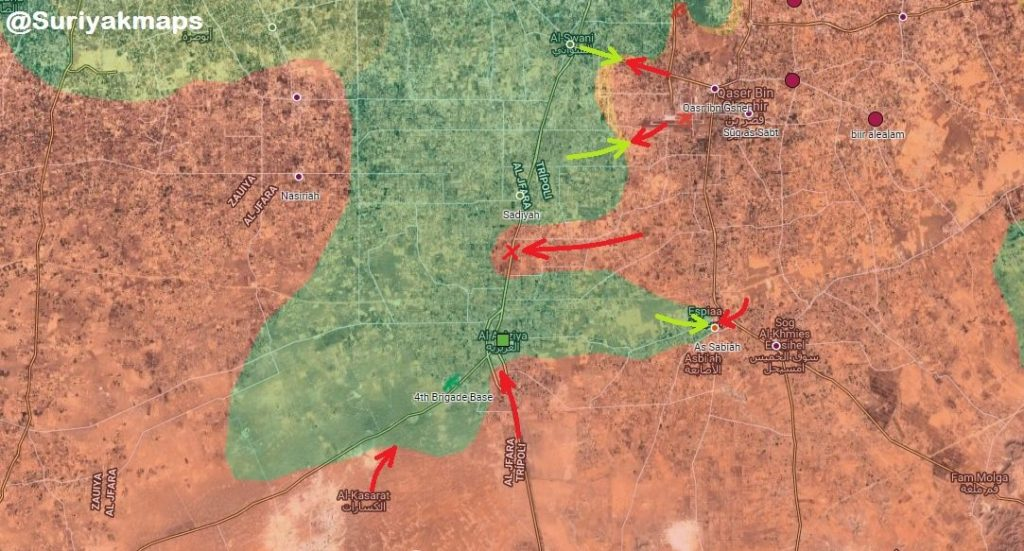 Libyan National Army Reportedly Cuts Off Road Between Aziziyah And Tripoli (Map)