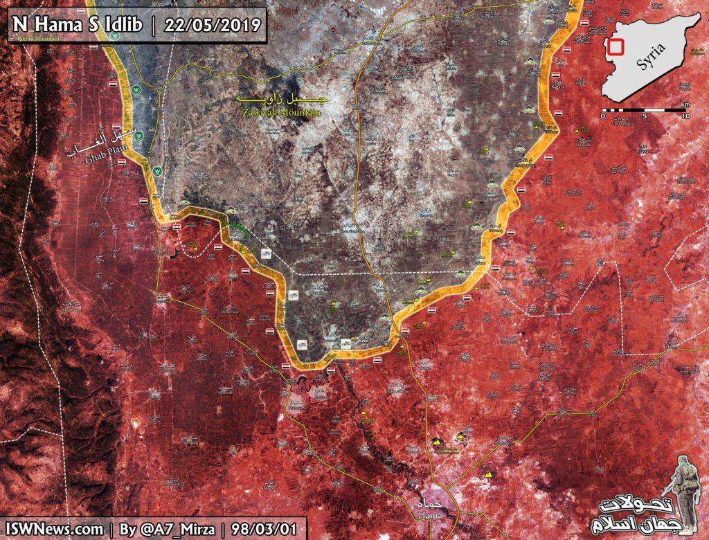 "Terrorists And Turkish-backed ""Moderates"" Clash With Syrian Army Near Kafr Nabudah (Map, Photos)"