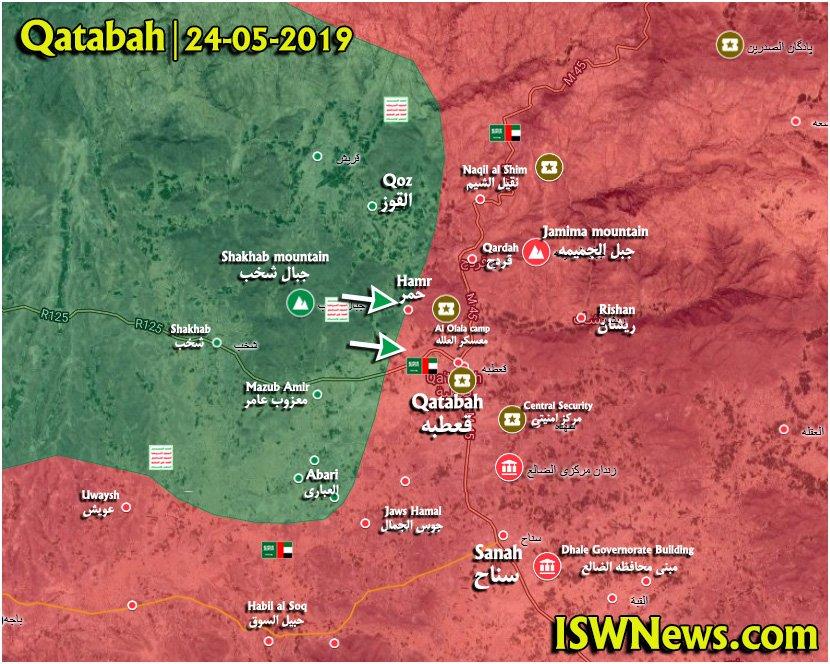 Map Update: Ansar Allah Regains Initiative In Battle For Yemen's Qatabah Town