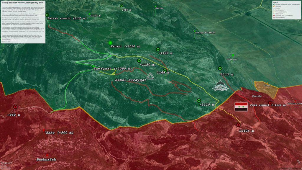 In Maps: Possible Scenario Of Syrian Army Advance On Kbani In Northern Lattakia