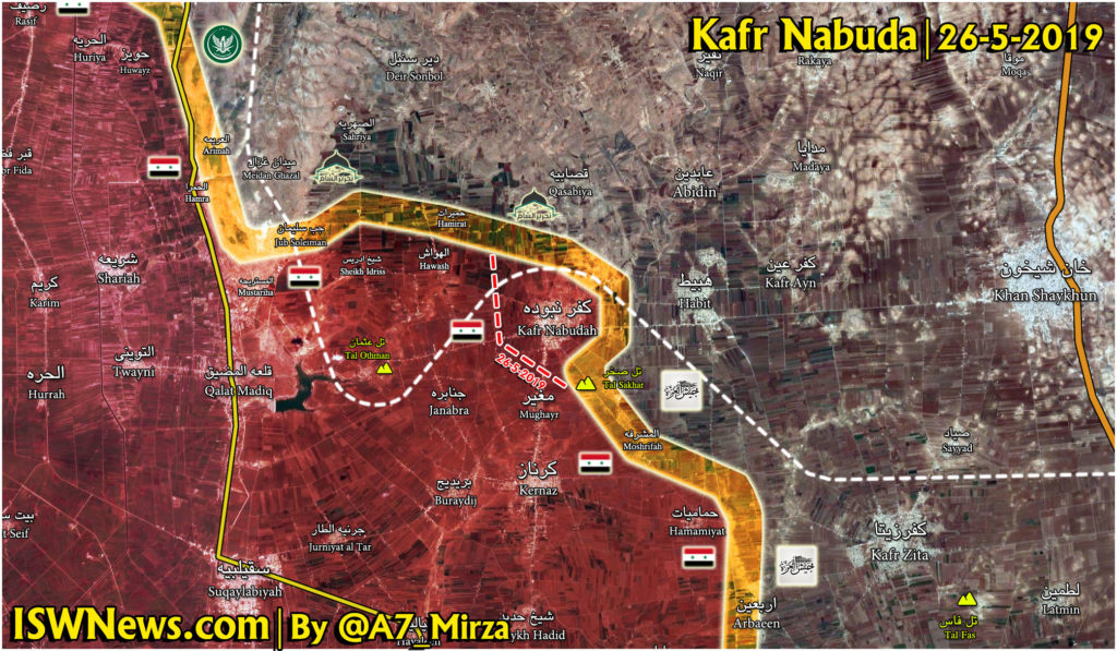 Military Situation In Northwestern Hama On May 26, 2019 (Map Update)