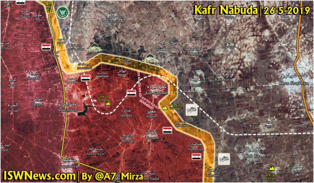 Vojenská Situácia V Severozápadnej Hama Na Máj 26, 2019 (Aktualizácia Máp)