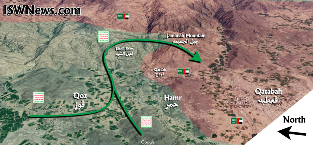 In Maps: Yemeni Forces Continue Their Push To Encircle Coalition's Stronghold Of Qatabah