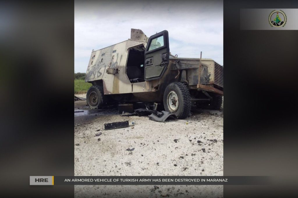 In Photos: Kurdish Rebels Destroyed Vehicle Of Turkey-led Forces In Northern Syria