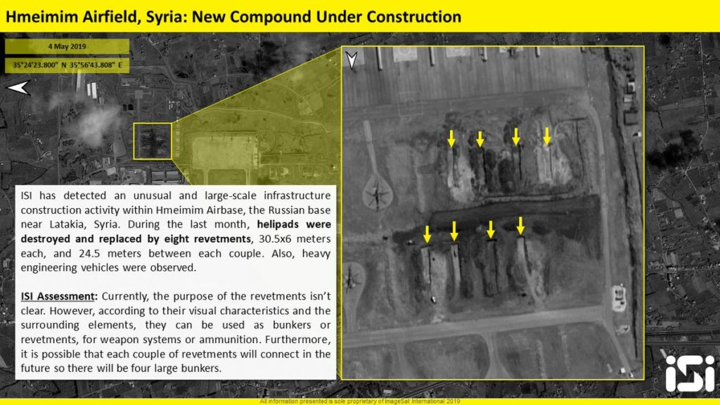 Russia Is Actively Constructing Revetments At Hmeimim Airbase In Syria (Photos)