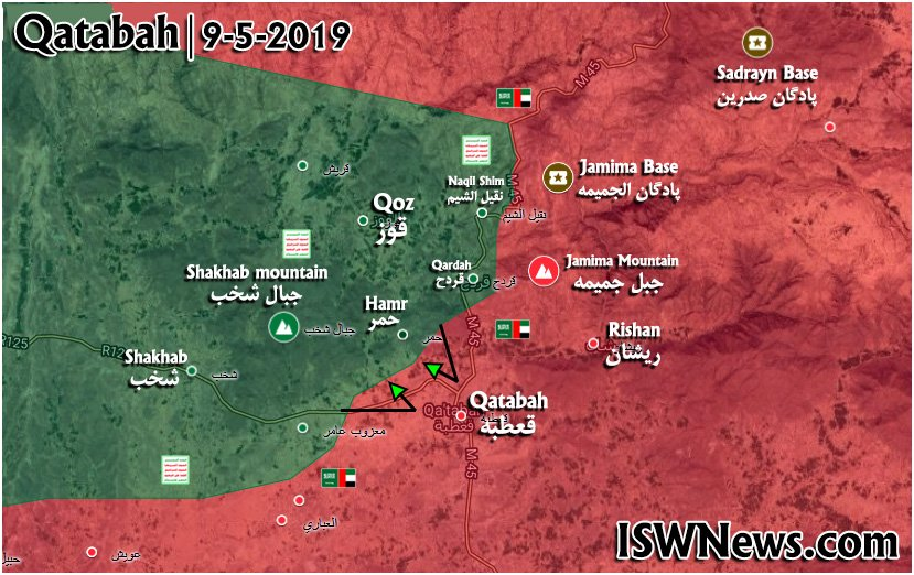 Ansar Allah's Advance On Qatabah Town Slowed Down Due To Fierce Resistance From Saudi-led Forces (Map)