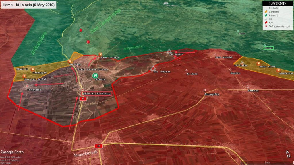 Government Troops Develop Their Advance In Northwestern Hama (Map)
