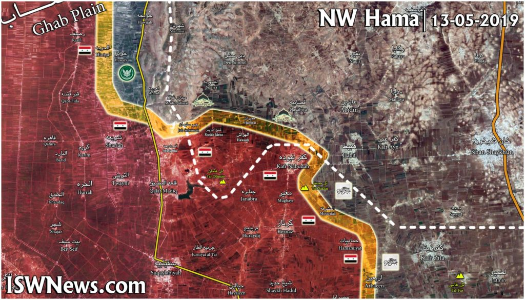 Map Update: Syrian Army Repelled Militants' Counter-Attack On Hamamiat, Kafr Nabudah