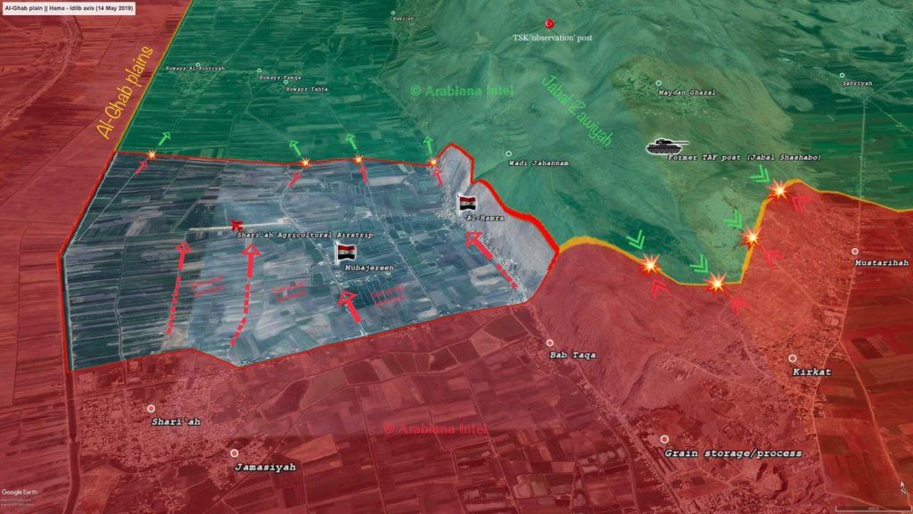 Map Update: Progress Of Syrian Army Advance In Al-Ghab Plains