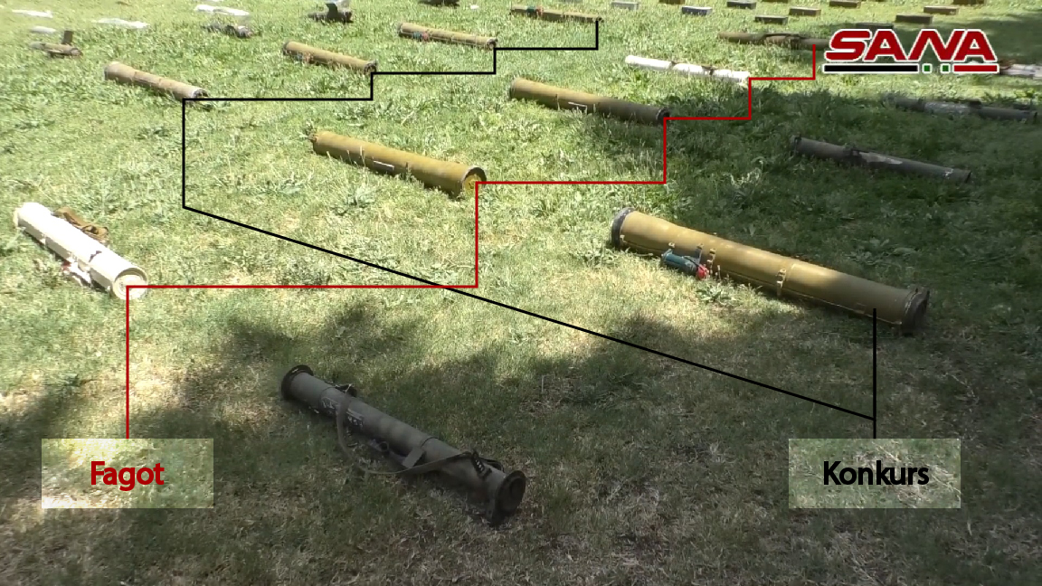 Syrian Army Uncovers Loads Of Weapons, Including Guided Missiles, In Damascus and Daraa (Video, Photos)