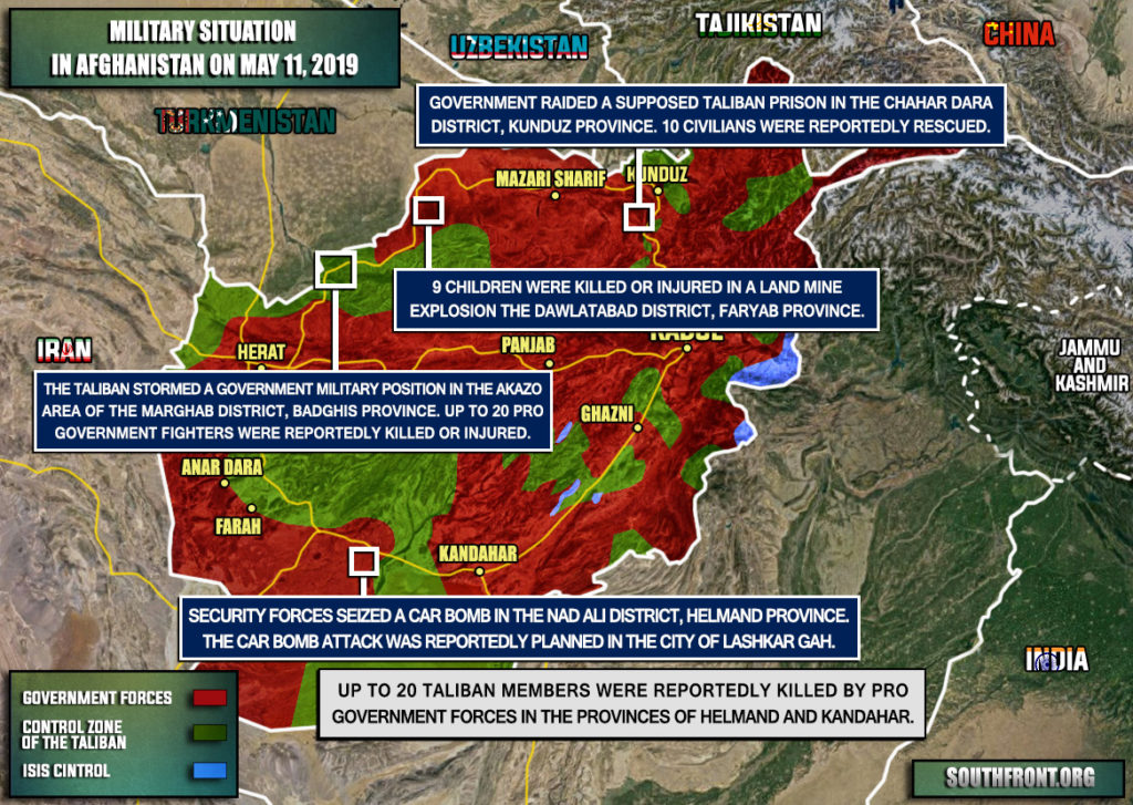 Military Situation In Afghanistan On May 11, 2019 (Map Update)