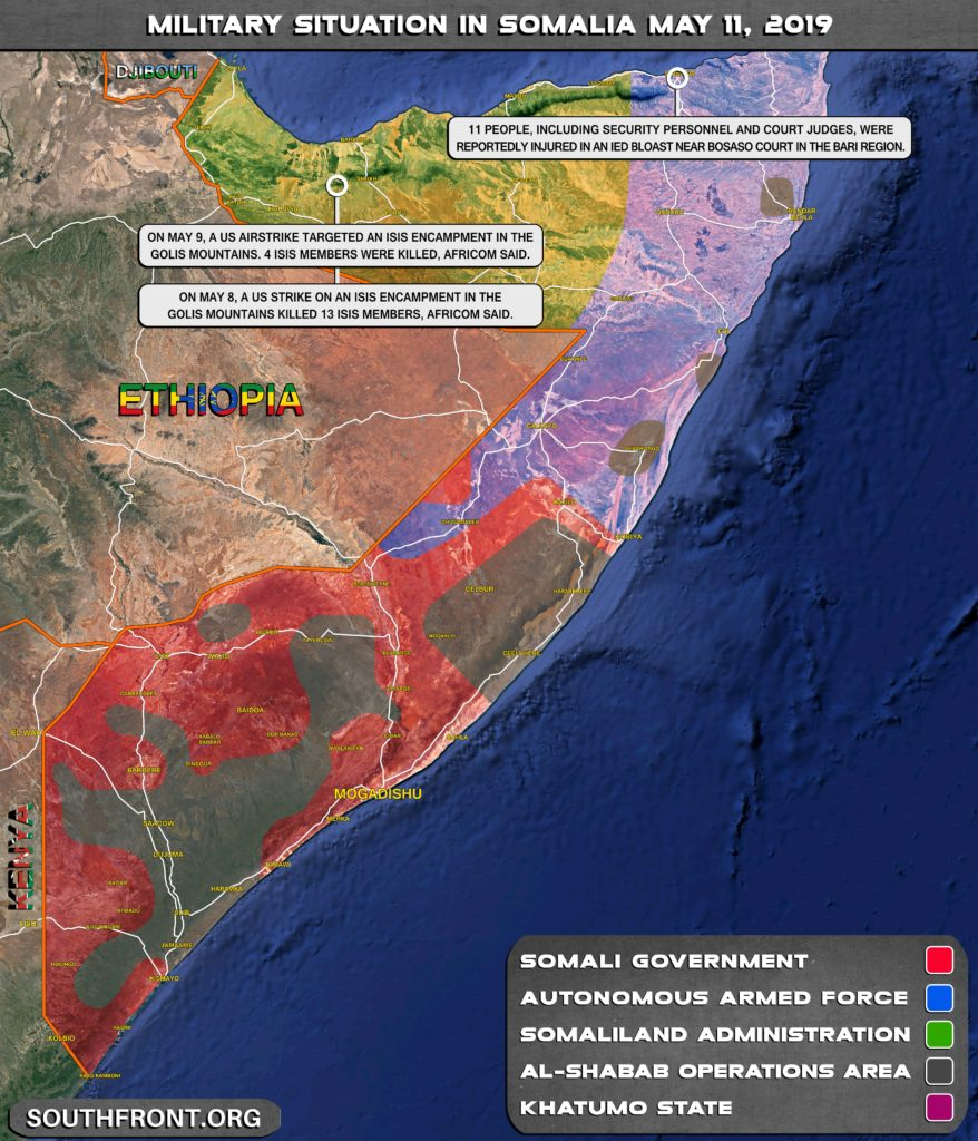 Map Update: US Eliminated 17 ISIS Members In Recent Series Of Airstrikes In Somalia