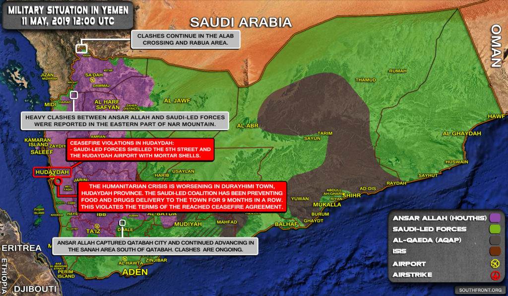 Military Situation In Yemen On May 11, 2019 (Map Update)