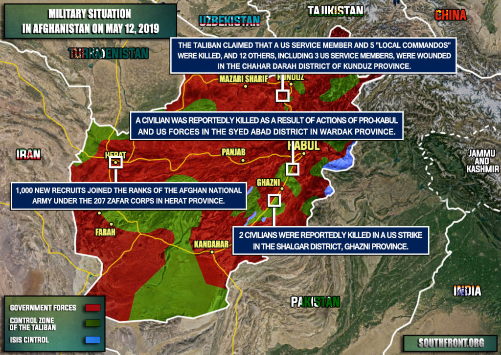 Military Situation In Afghanistan On May 12, 2019 (Map Update)