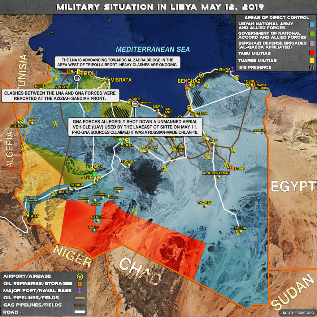 Military Situation In Libya On May 12, 2019 (Map Update)