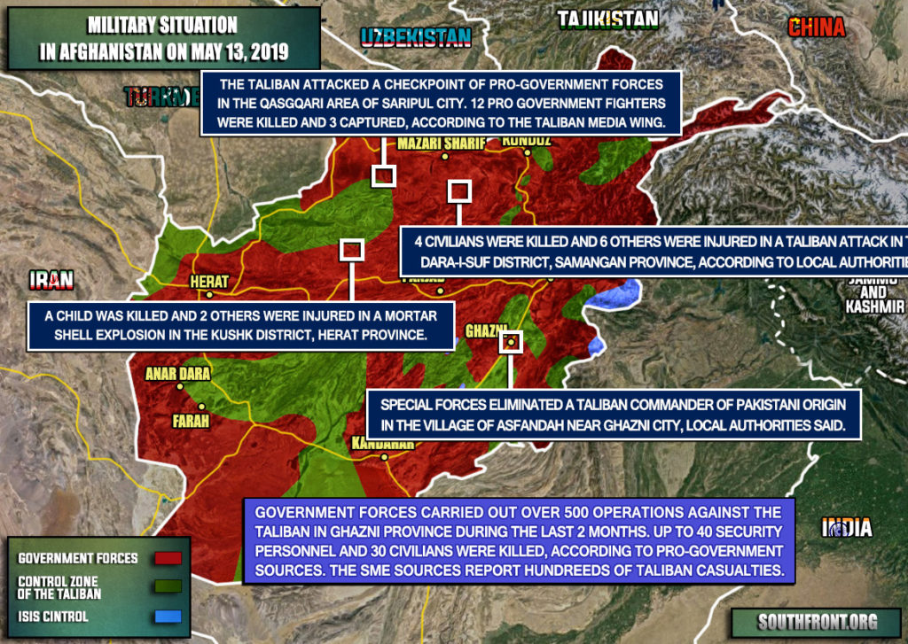 Military Situation In Afghanistan On May 13, 2019 (Map Update)