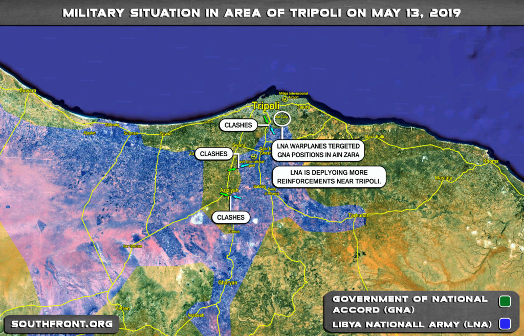 Military Situation In Libya's Tripoli On May 13, 2019 (Map Update)