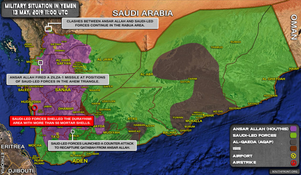Military Situation In Yemen On May 13, 2019 (Map Update)