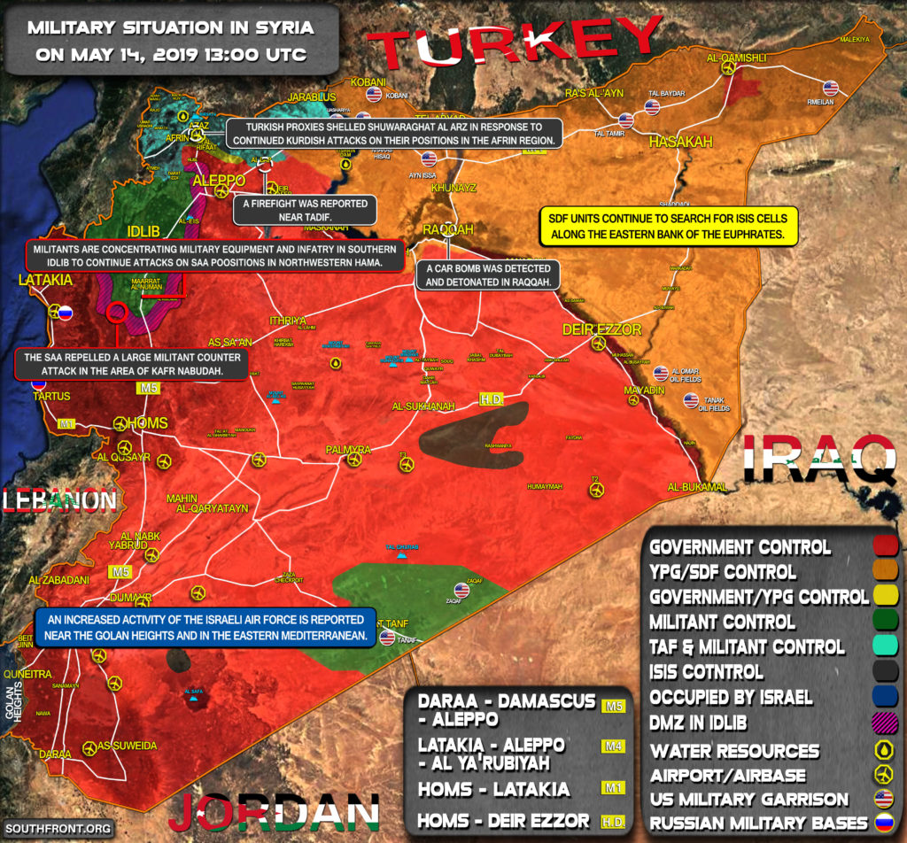 Military Situation In Syria On May 14, 2019 (Map Update)