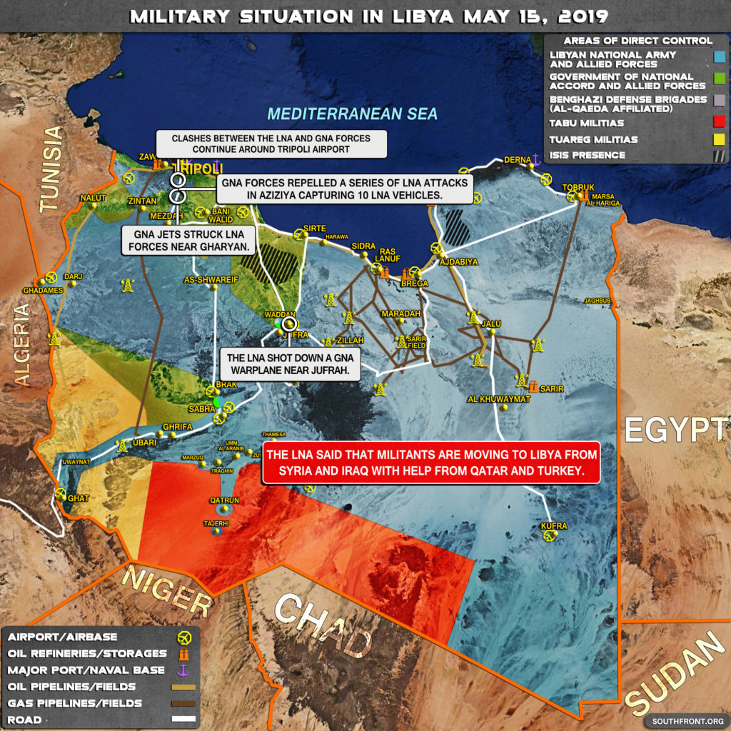 Military Situation In Libya On May 15, 2019 (Map Update)
