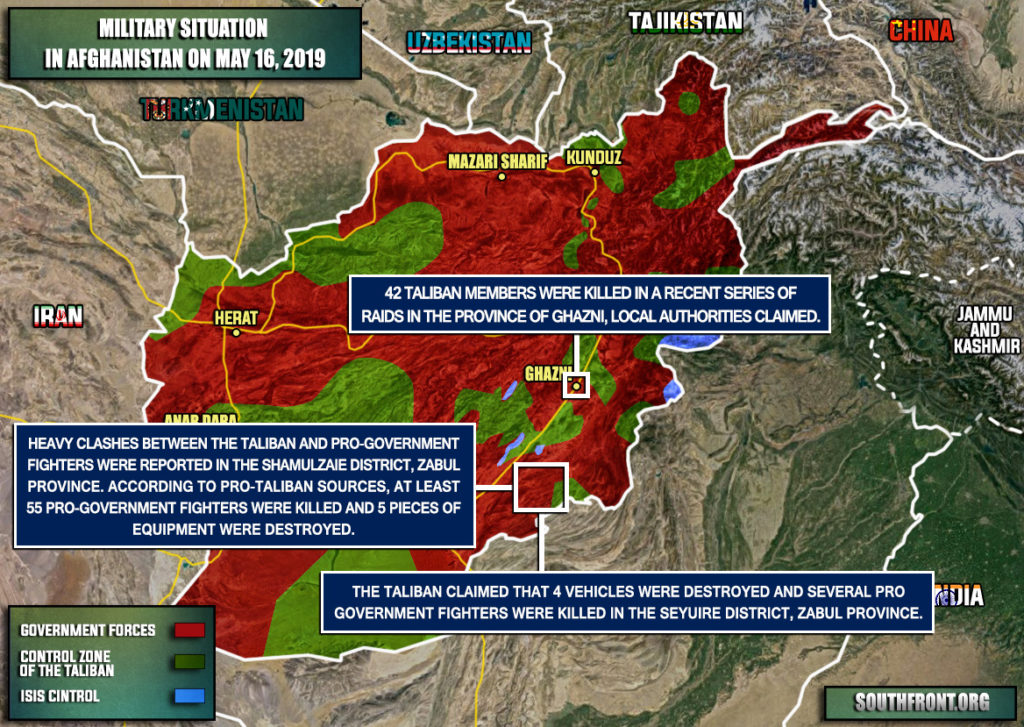 Military Situation In Afghanistan On May 16, 2019 (Map Update)