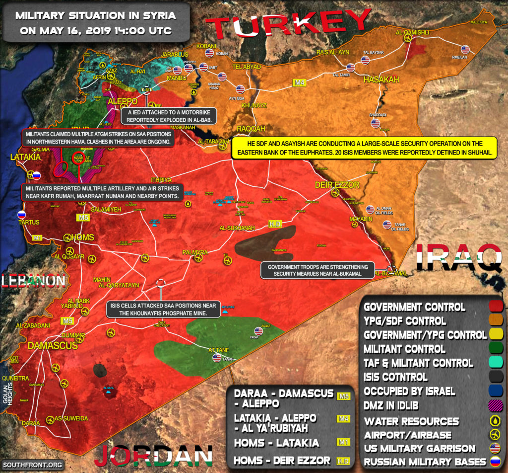 Military Situation In Syria On May 16, 2019 (Map Update)