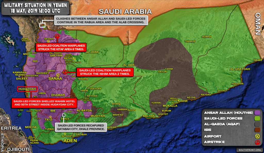 Military Situation In Yemen On May 18, 2019 (Map Update)