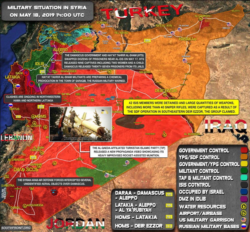 Military Situation In Syria On May 18, 2019 (Map Update)
