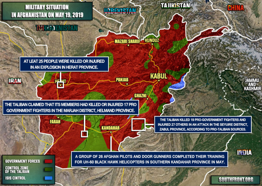 Military Situation In Afghanistan On May 19, 2019 (Map Update)