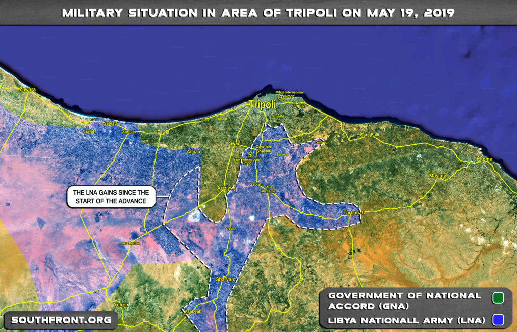 Map Update: Gains Of Libyan National Army Since Start Of Advance On Tripoli