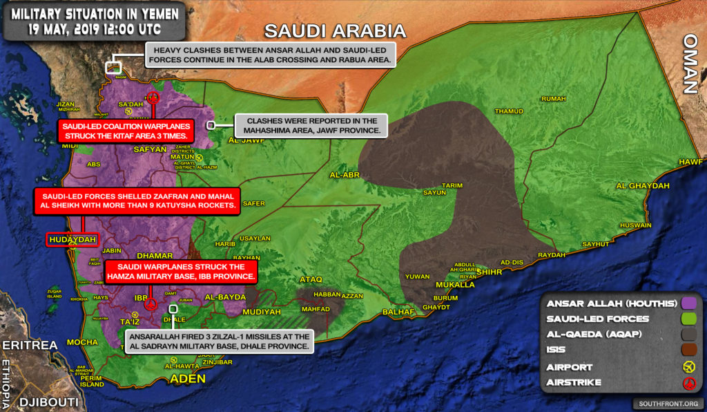Military Situation In Yemen On May 19, 2019 (Map Update)
