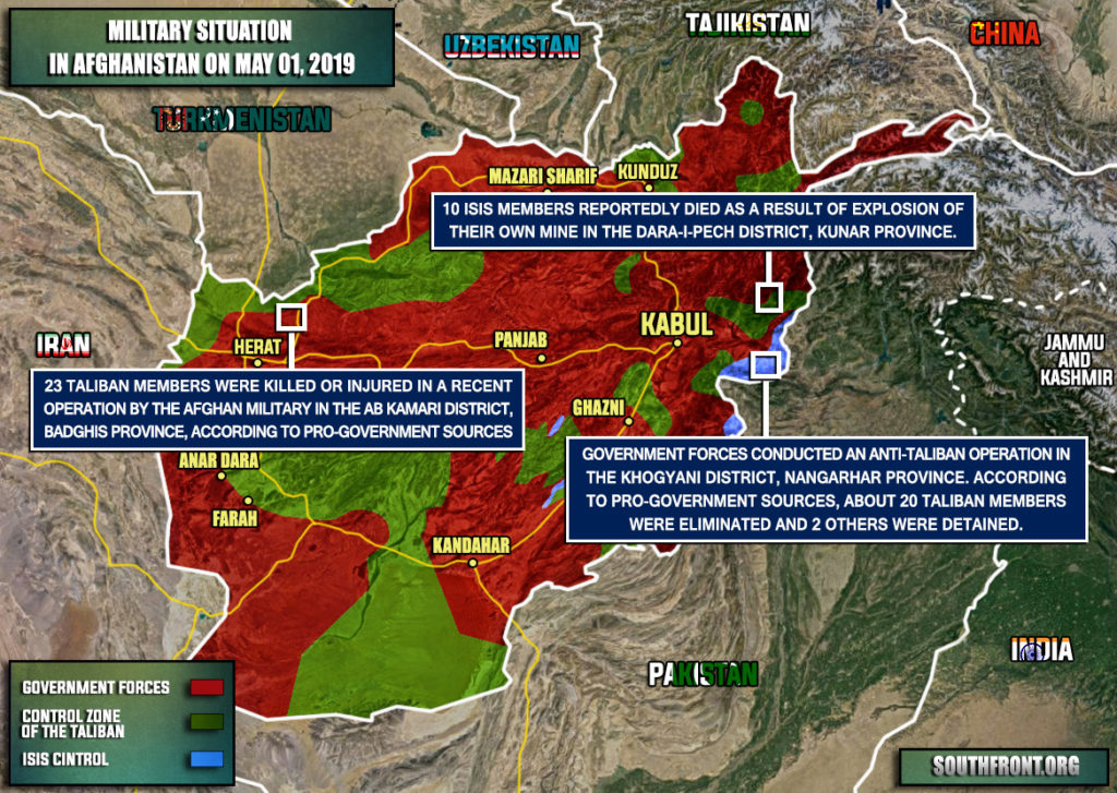 Military Situation In Afghanistan On May 1, 2019 (Map Update)