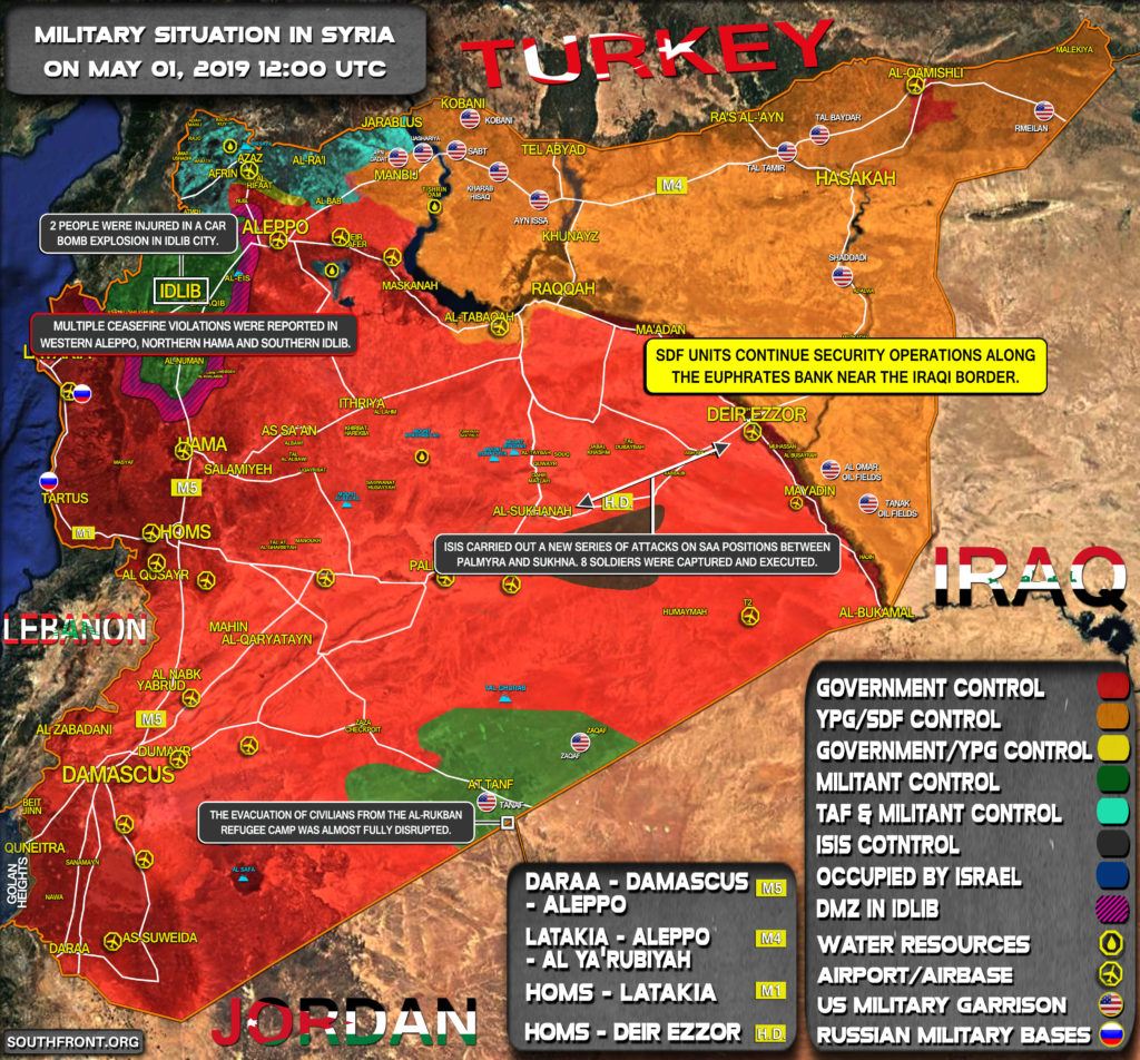 Military Situation In Syria On May 1, 2019 (Map Update)
