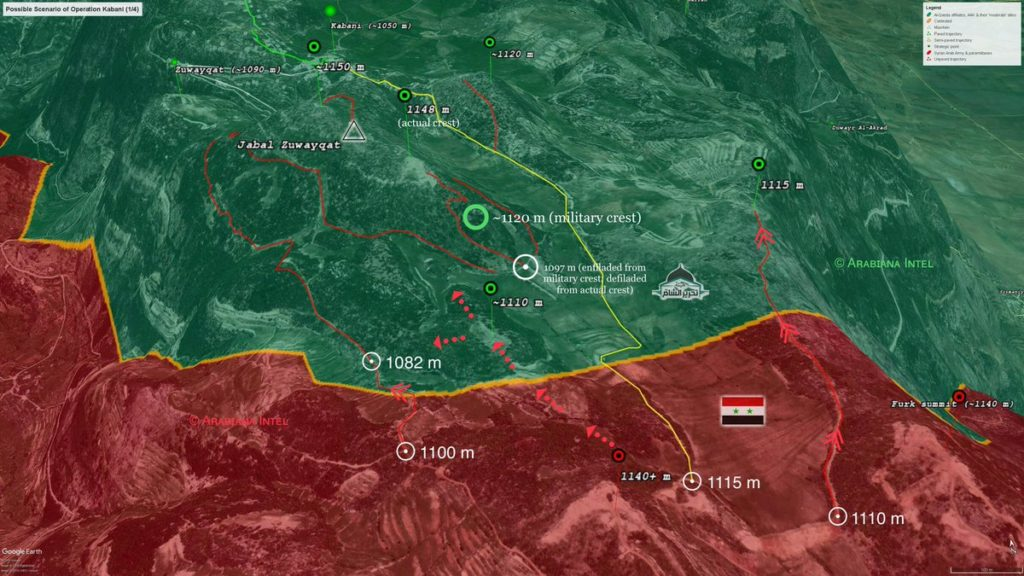 In Maps: Possible Scenario Of Syrian Army Advance On Kbani In Northern Lattakia