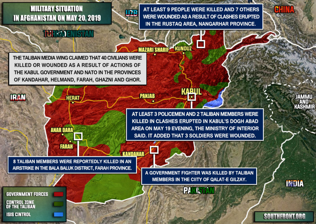 Military Situation In Afghanistan On May 20, 2019 (Map Update)
