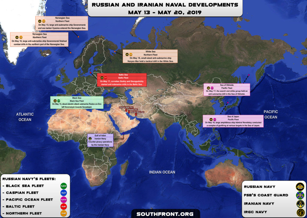 Iranian, Russian Naval Developments On May 13-20, 2019 (Map)