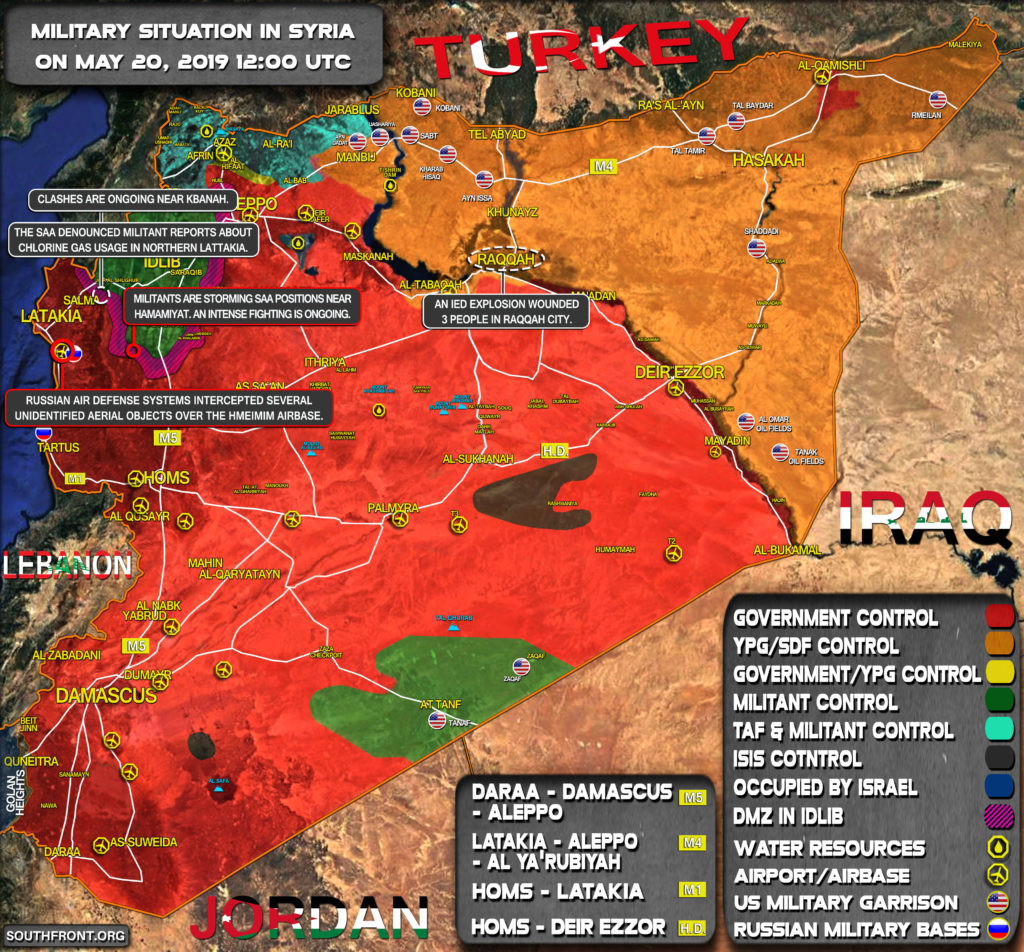 Military Situation In Syria On May 20, 2019 (Map Update)