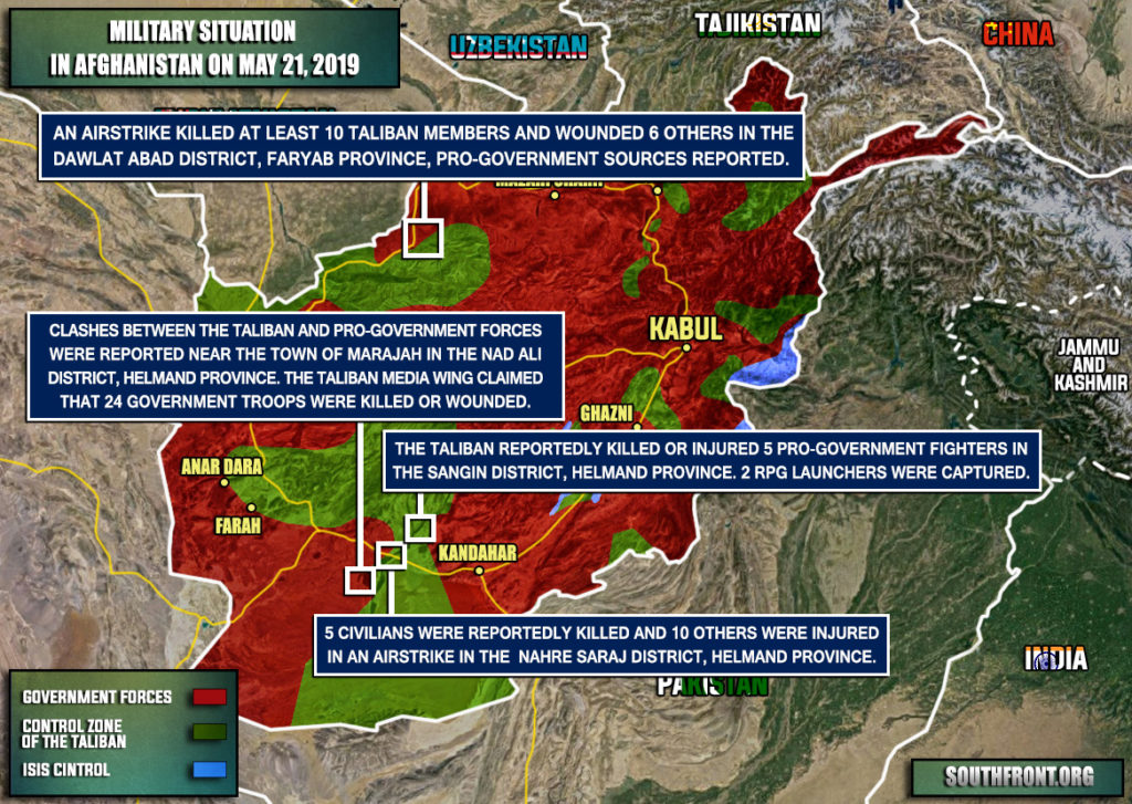 Military Situation In Afghanistan On May 21, 2019 (Map Update)