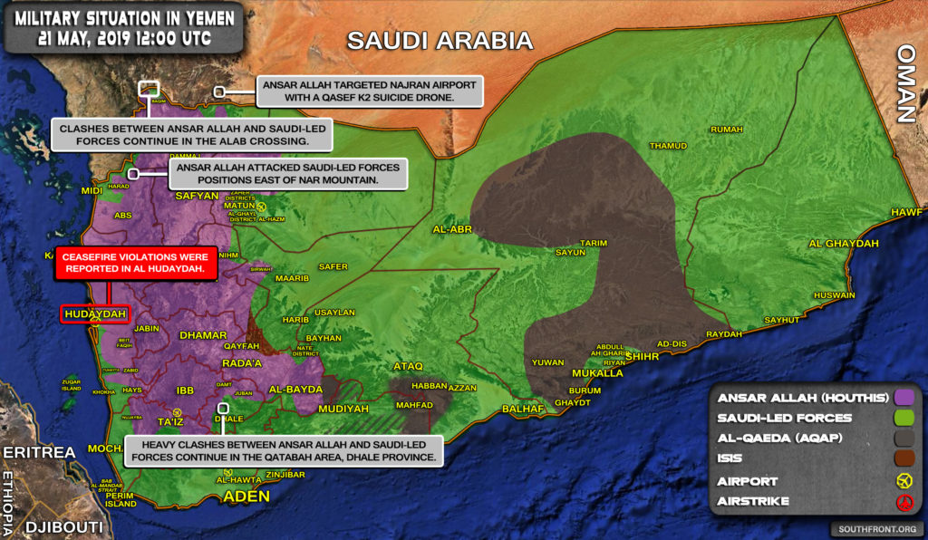 Military Situation In Yemen On May 21, 2019 (Map Update)