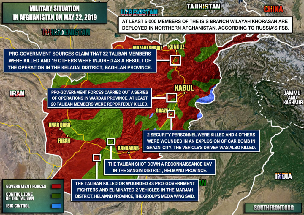 Military Situation In Afghanistan On May 22, 2019 (Map Update)