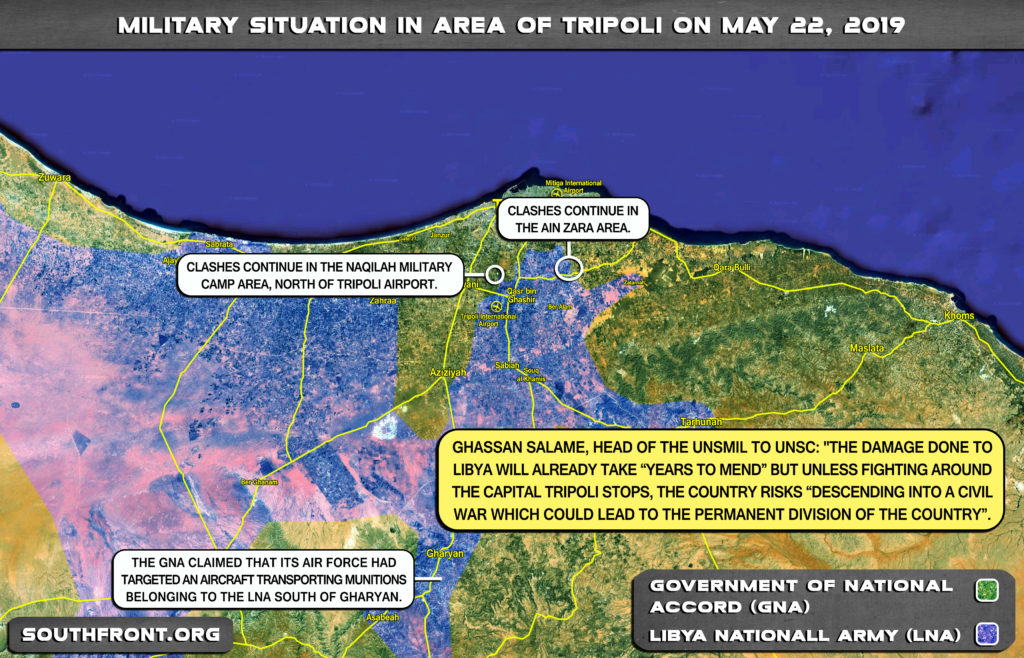 Map Update: Military Situation In Libya's Tripoli On May 22, 2019