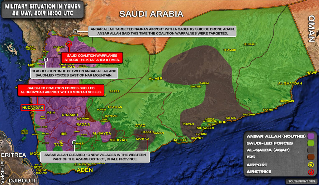 Military Situation In Yemen On May 22, 2019 (Map Update)