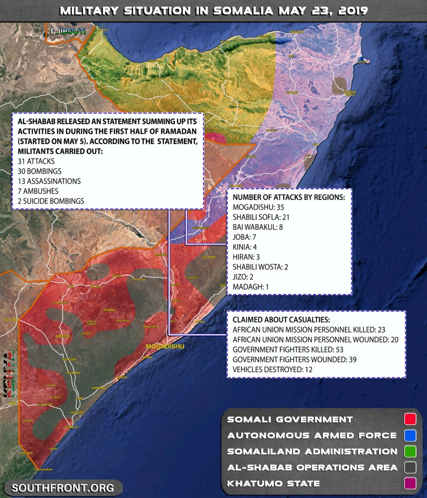 Al-Shabab Claims Its Members Carried Out Over 80 Attacks In Somalia Since Start Of Ramadan